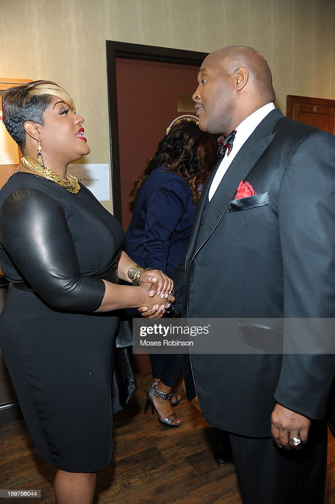 Anita Wilson and Marvin Winans attend the 28th Annual Stellar Awards Backstage at Grand Ole Opry House on January 19, 2013 in Nashville, Tennessee.