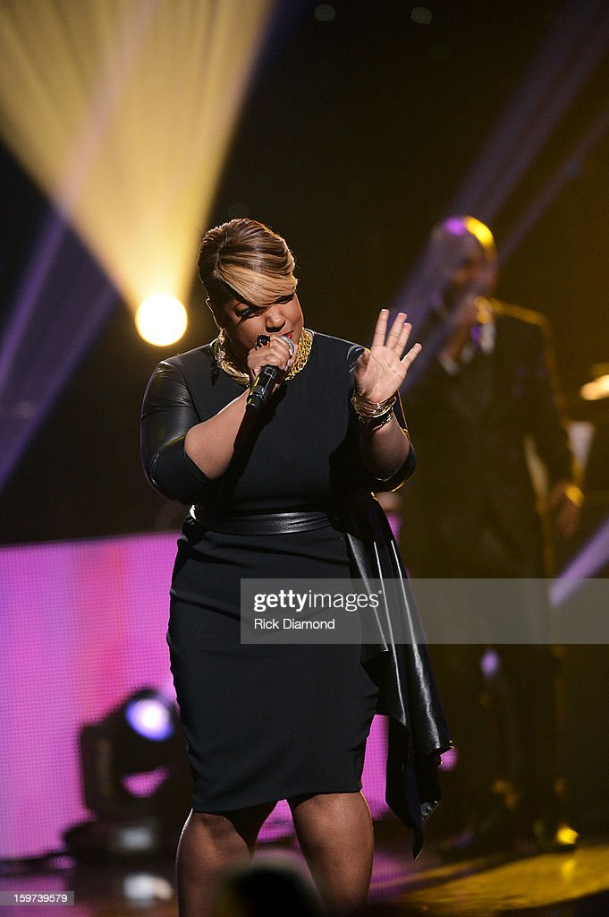 Anita Wilson attends the 28th Annual Stellar Awards Show at Grand Ole Opry House on January 19, 2013 in Nashville, Tennessee.