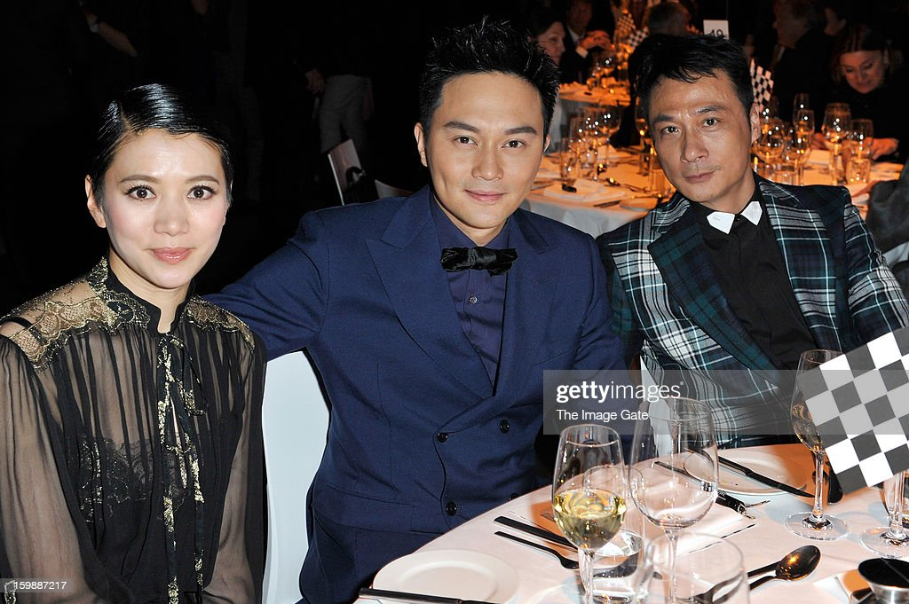 Anita Yuen, Julian Cheunh and Francis Ng attend the IWC Schaffhausen Race Night event during the Salon International de la Haute Horlogerie (SIHH) 2013 at Palexpo on January 22, 2013 in Geneva, Switzerland.