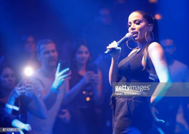 Anitta at Spotify Celebrates Latin Music and Their Viva Latino Playlist at Marquee Nightclub on November 14 2017 in Las Vegas Nevada