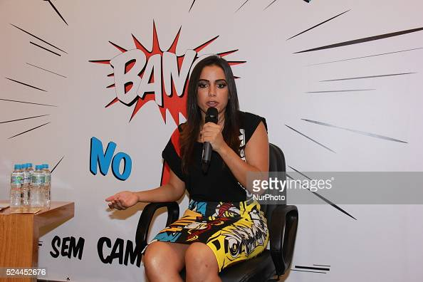 Anitta Brazilian pop singer Rio de Janeiro Brazil 4th February 2016 Special Coordination of Sexual Diversity and the Municipal Health Secretariat of...