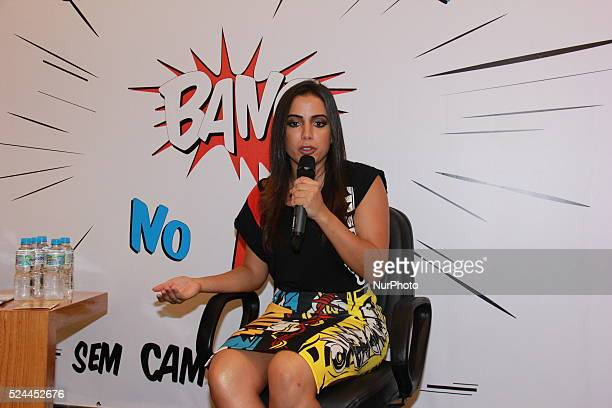 Anitta Brazilian pop singer Rio de Janeiro Brazil 4th February 2016 Special Coordination of Sexual Diversity and the Municipal Health Secretariat of...
