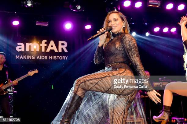 Anitta performs during the 7th Annual amfAR Inspiration Gala on April 27 2017 in Sao Paulo Brazil