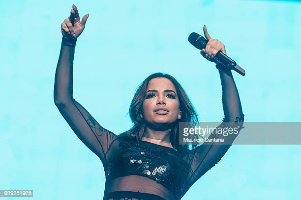 Anitta performs live on stage at Allianz Parque on December 10 2016 in Sao Paulo Brazil