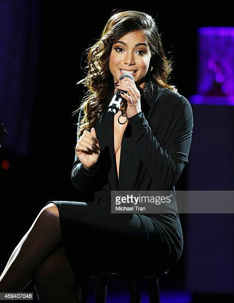 Anitta performs onstage during the 15th Annual Latin GRAMMY Awards held at the MGM Grand Arena on November 20 2014 in Las Vegas Nevada
