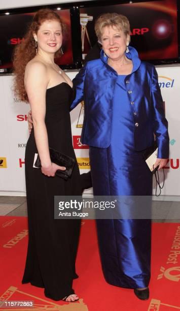 Anja Antonowicz and MarieLuise Marjan during 2007 Die Goldene Kamera Awards Arrivals at AxelSpringerVerlag in Berlin Germany