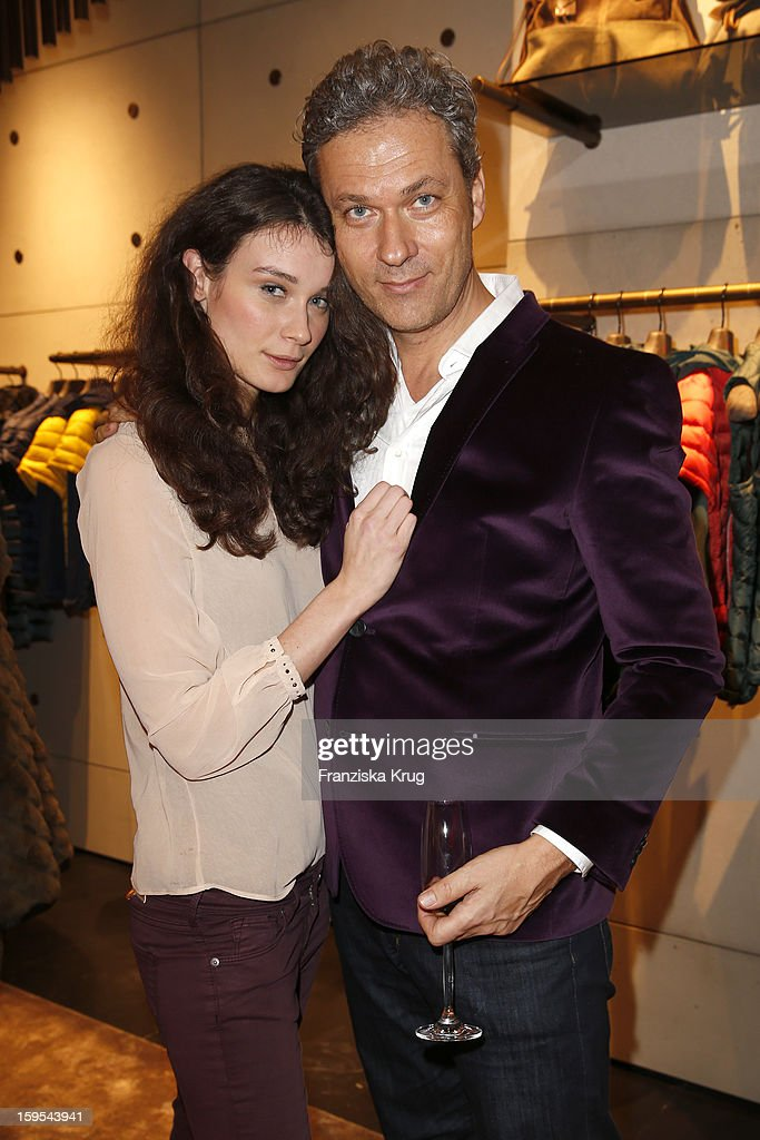 Anja Carina Schabel and Nikolaus Weil attend the 'Peuterey Cocktail Party' at Peuterey flagship store Kurfuerstendamm on January 15, 2013 in Berlin, Germany.