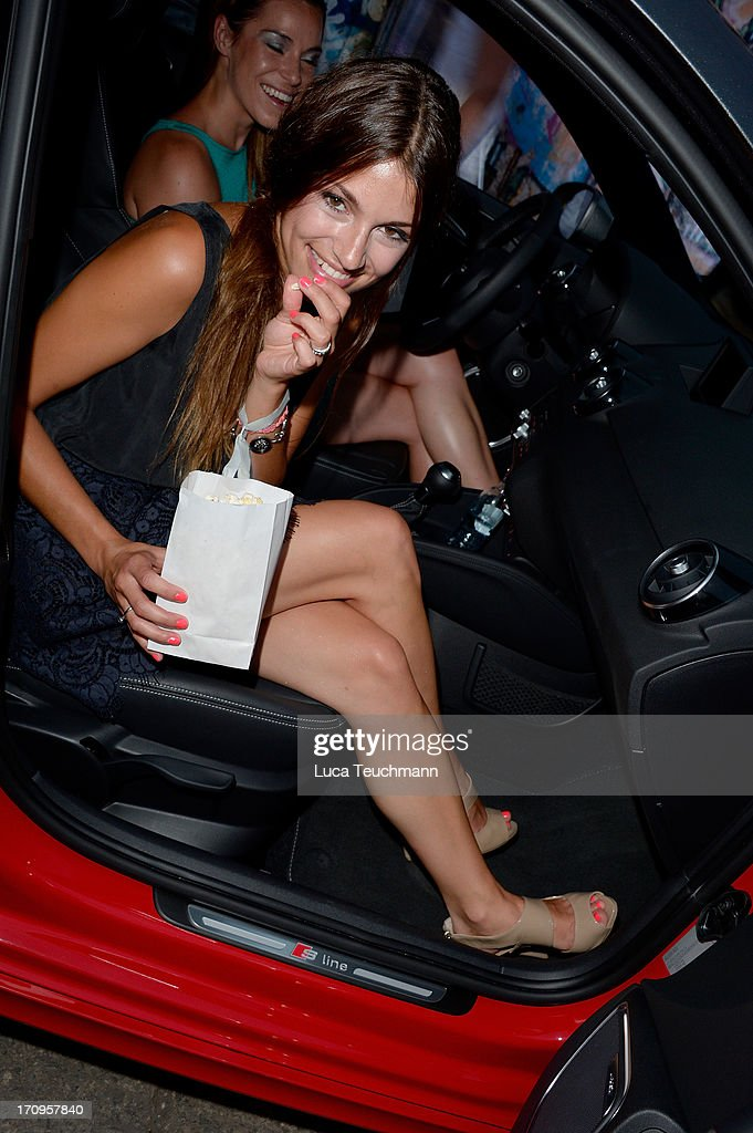 Anja Julia Kapfelsberger attends the ' Audi Urban Cinema ' on June 20, 2013 in Berlin, Germany.