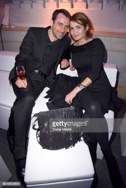 Anja Kling and her boyfriend Oliver Haas attend the Blue Hour Reception hosted by ARD during the 67th Berlinale International Film Festival Berlin on...