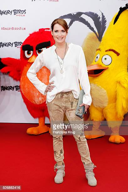 Anja Kling attends the 'Angry Birds Der Film' Premiere on May 1 2016 in Berlin Germany