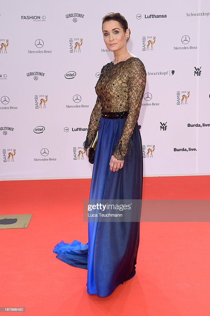 <a gi-track='captionPersonalityLinkClicked' href=/galleries/search?phrase=Anja+Kling&family=editorial&specificpeople=220767 ng-click='$event.stopPropagation()'>Anja Kling</a> attends the Bambi Awards 2013 at Stage Theater on November 14, 2013 in Berlin, Germany.