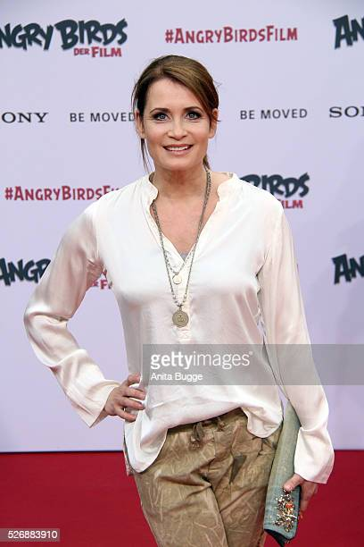 Anja Kling attends the Berlin premiere of the film 'Angry Birds Der Film' at CineStar on May 1 2016 in Berlin Germany