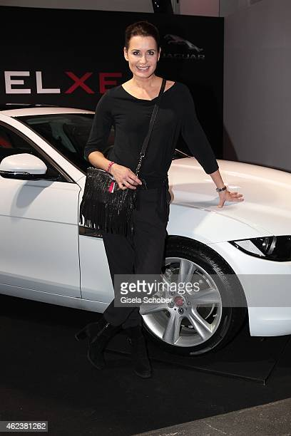 Anja Kling attends the JAGUAR XE presentation at Umspannwerk on January 27 2015 in Berlin Germany