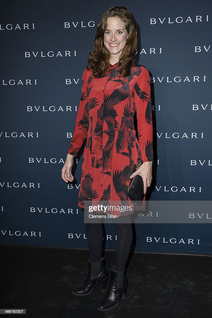 Anja Knauer attends the 130 years of glam culture party by Bulgari at Kaufhaus Jandorf on February 11, 2014 in Berlin, Germany.