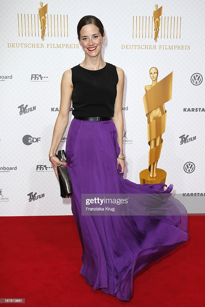 Anja Knauer attends the Lola German Film Award 2013 at Friedrichstadt-Palast on April 26, 2013 in Berlin, Germany.