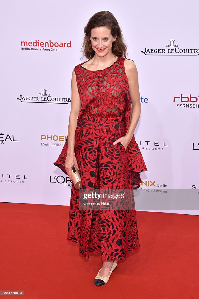 Anja Knauer attends the Lola - German Film Award (Deutscher Filmpreis) on May 27, 2016 in Berlin, Germany.