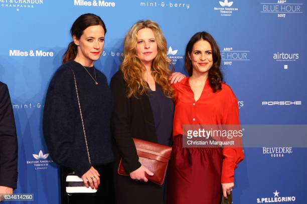 Anja Knauer Diana Amft and Birthe Wolter attend the Blue Hour Reception hosted by ARD during the 67th Berlinale International Film Festival Berlin on...