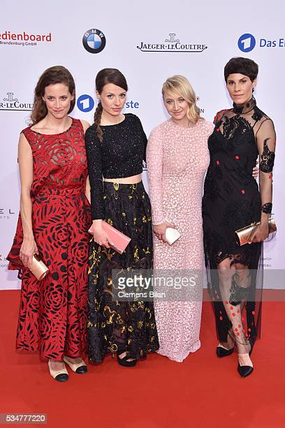 Anja Knauer Julia Hartmann Anna Maria Mühe and Jasmin Gerat attend the Lola German Film Award on May 27 2016 in Berlin Germany