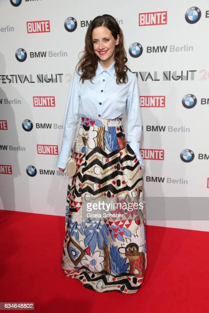 Anja Knauer wearing a skirt by Talbot Runhof during the BUNTE BMW Festival Night during the 67th Berlinale International Film Festival Berlin at...