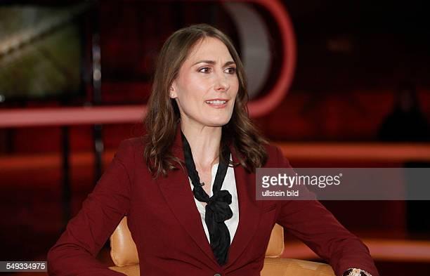 Anja Kohl Boersenexpertin anlässlich einer Talkshow in Berlin