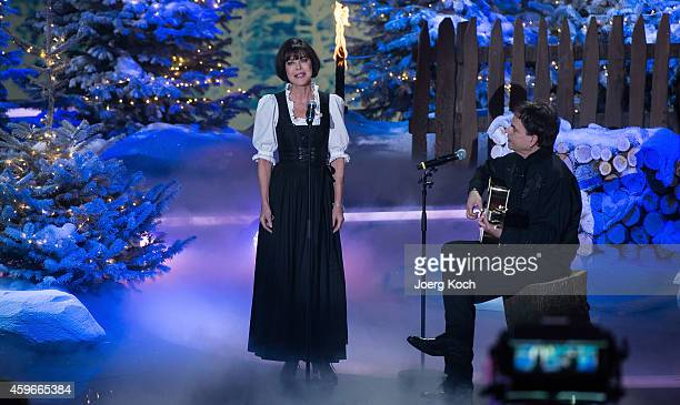 Anja Kruse and Klaus Pruenster attend the taping of the TV show 'Heiligabend mit Carmen Nebel' on November 27 2014 in Munich Germany