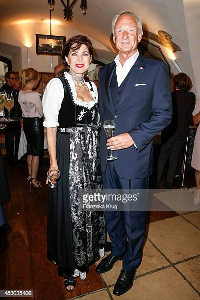 Anja Kruse and Lutz Bethge attend the Montblanc Young Directors Project at Salzburg Festival on July 31 2014 in Salzburg Austria