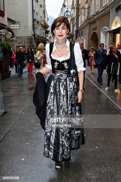 Anja Kruse attends the Montblanc Young Directors Project at Salzburg Festival on July 31 2014 in Salzburg Austria