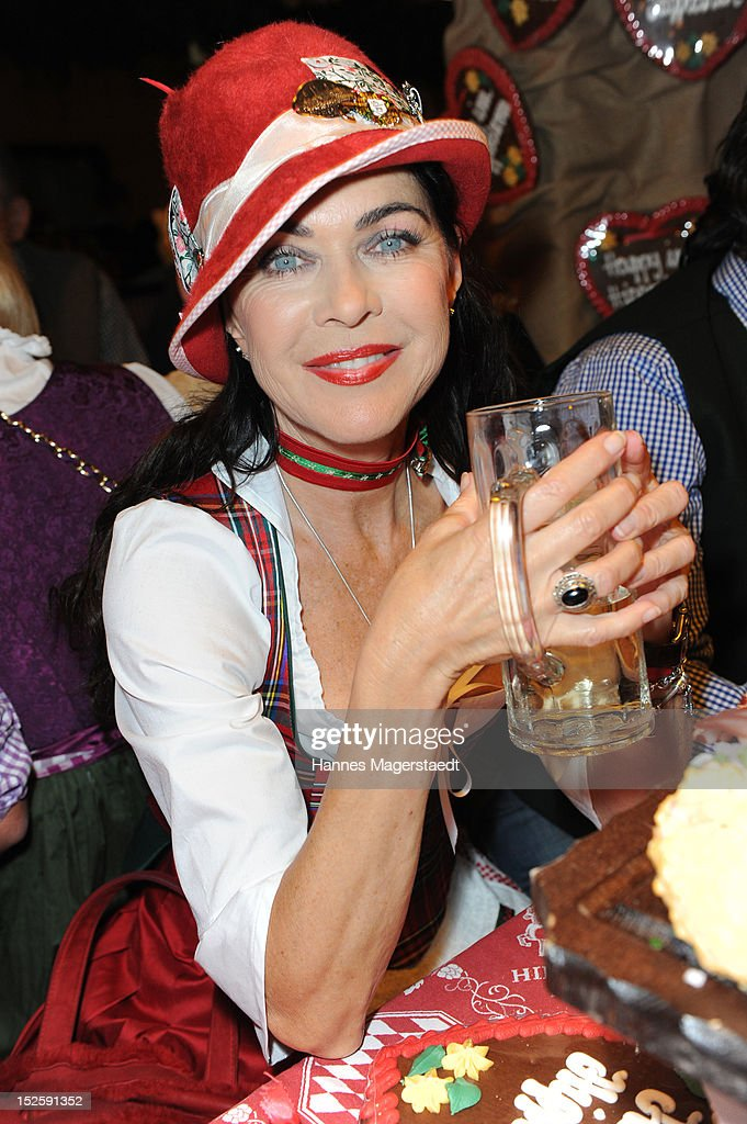 Anja Kruse attends the Oktoberfest beer festival at Hippodrom on September 22, 2012 in Munich, Germany.