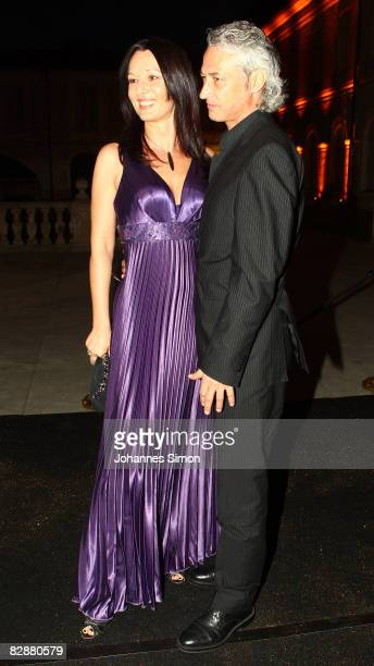 Anja Lukaseder and Richard Karl attend the 'Fabulous Celebration' at Nymphenburg Castle on September 18 2008 in Munich Germany French champagne...