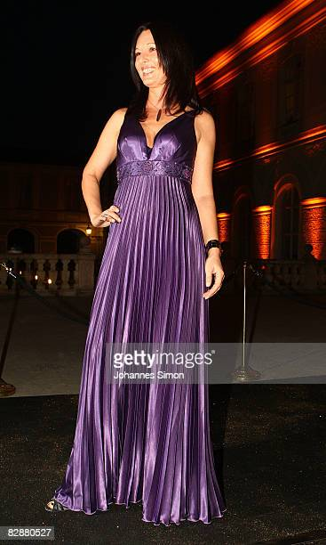 Anja Lukaseder attends the 'Fabulous Celebration' at Nymphenburg Castle on September 18 2008 in Munich Germany French champagne producer Moet Chandon...