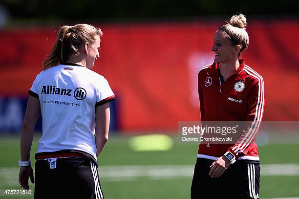 Anja Mittag of Germany practices during a morning training session at Algonquin College Soccer Complex on June 3 2015 in Ottawa Canada
