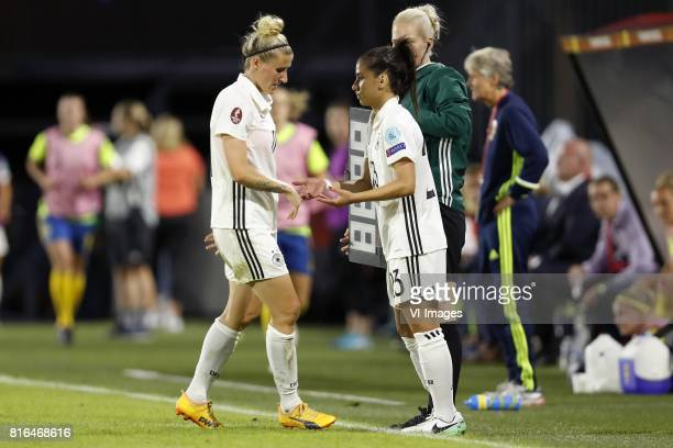 Anja Mittag of Germany women Hasret Kayikci of Germany women during the UEFA WEURO 2017 Group B group stage match between Germany and Sweden at the...