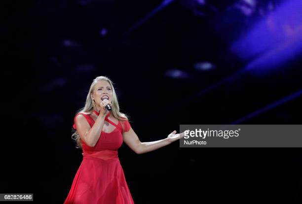 Anja Nissen from Denmark performs with the song quotWhere I Amquotduring the Grand Final of the Eurovision Song Contest in Kiev Ukraine 13 May 2017