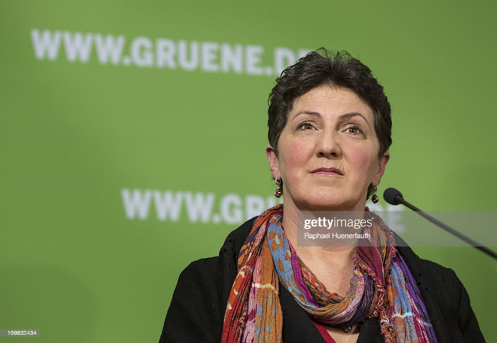 Anja Piel, member of the Greens in Lower Saxony, during a press conference, the day after the German Social Democrats (SPD) and German Greens party emerged with a hairline victory in Lower Saxony on January 21, 2013 in Berlin, Germany. The result of the German Greens is the best result they have had to date and Germany will face their national elections later this year.