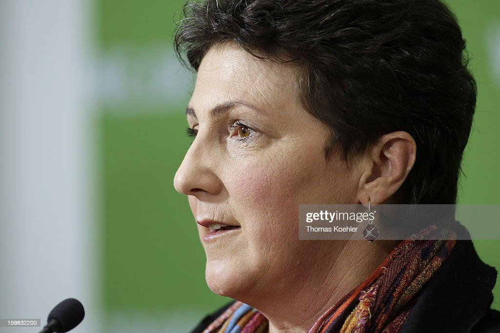 Anja Piel, top candidate of the Green Party in Lower Saxony, a day after the SPD and German Greens party emerged with a hairline victory in Lower Saxony on January 21, 2013 in Berlin, Germany. Germany faces national elections later this year.