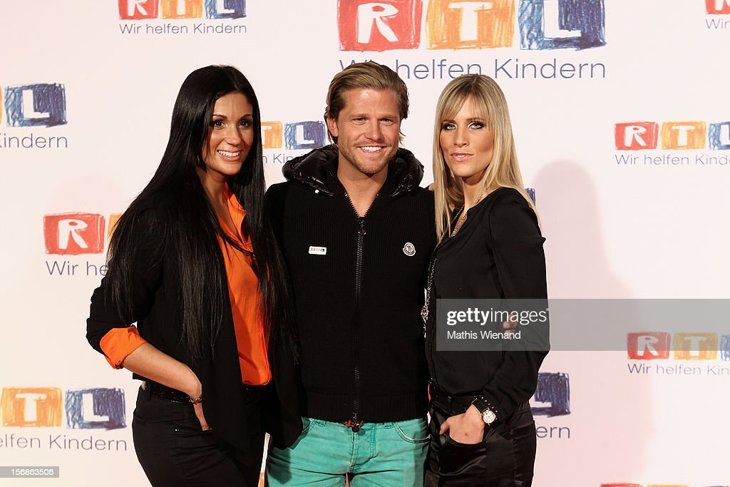 Anja Polzer, Paul Jahnke and Sissi Fahrenschon attend the 'RTL Spendenmarathon' at RTL Studios on November 23, 2012 in Cologne, Germany.