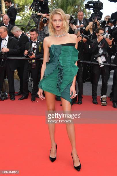 Anja Rubik attends 'The Killing Of A Sacred Deer' screening during the 70th annual Cannes Film Festival at Palais des Festivals on May 22 2017 in...