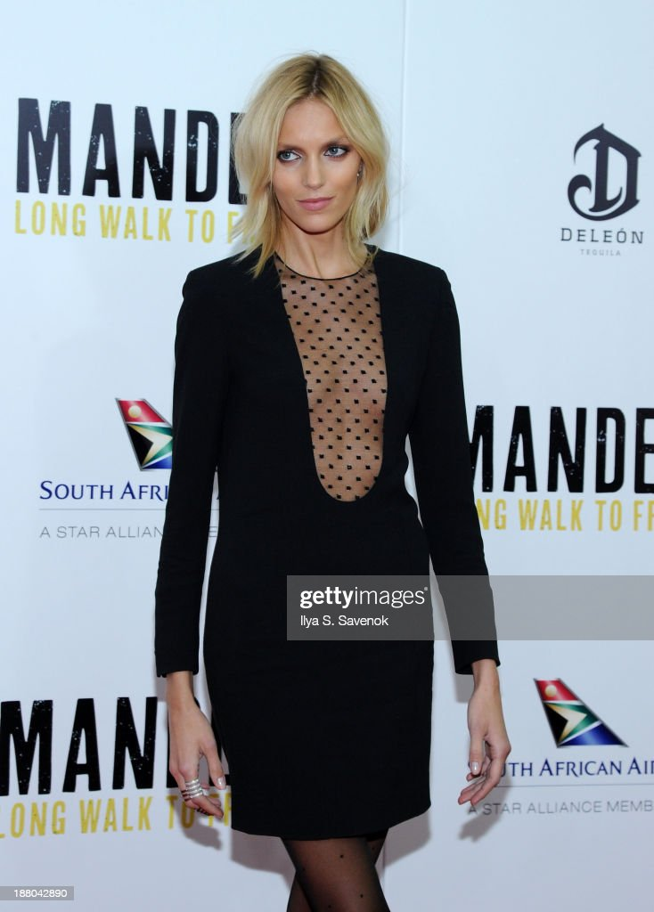 Anja Rubik attends the New York premiere of 'Mandela: Long Walk To Freedom' hosted by The Weinstein Company, Yucaipa Films and Videovision Entertainment, supported by Mercedes-Benz, South African Airways and DeLeon Tequila at Alice Tully Hall, Lincoln Center on November 14, 2013 in New York City.