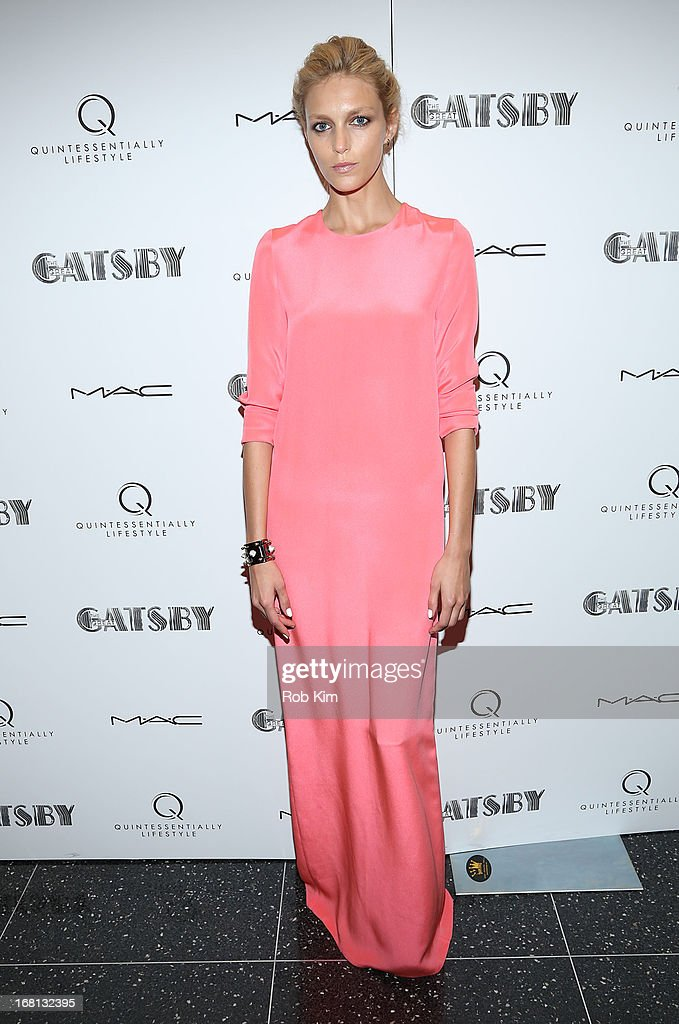 Anja Rubik attends the pre-Met Ball special screening of 'The Great Gatsby' at MOMA on May 5, 2013 in New York City.