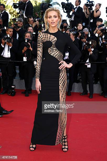 Anja Rubik attends the premiere of 'La Giovinezza' during the 68th annual Cannes Film Festival on May 20 2015 in Cannes France