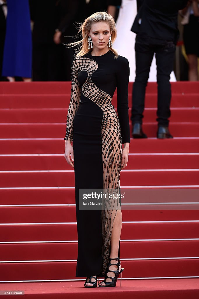 Anja Rubik attends the Premiere of 'Youth' during the 68th annual Cannes Film Festival on May 20 2015 in Cannes France