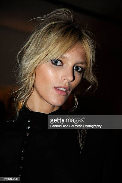 Anja Rubik attends the Stefano Tonchi Celebrates W Magazine's Modern Beauty Issue Honoring Tilda Swinton at the Perry Street Restaurant on April 18...
