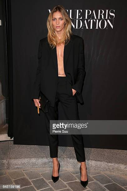 Anja Rubik attends the Vogue Foundation Gala 2016 at Palais Galliera on July 5 2016 in Paris France