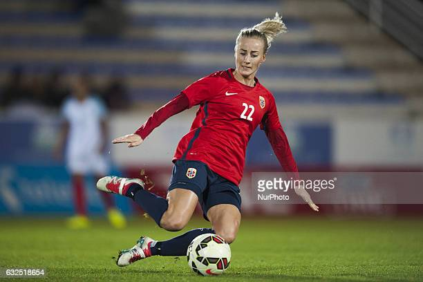 Anja Sonstevold during the preseason friendly match between national women's Engalnd vs Norway in Pinatar Arena San Pedro del Pinatar Murcia SPAIN...