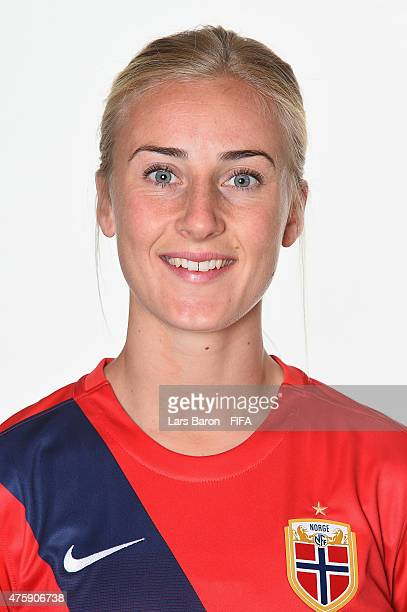 Anja Sonstevold of Norway poses during the FIFA Women's World Cup 2015 portrait session at Fairmont Chateau Laurier on June 3 2015 in Ottawa Canada