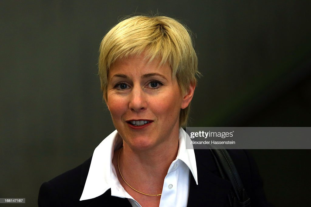 <a gi-track='captionPersonalityLinkClicked' href=/galleries/search?phrase=Anja+Sturm&family=editorial&specificpeople=10879931 ng-click='$event.stopPropagation()'>Anja Sturm</a>, who is the lawyer representing defendant Beate Zschaepe smiles during a lunch break at the Oberlandesgericht Muenchen court building on the first day of the NSU neo-Nazi murder trial on May 6, 2013 in Munich, Germany. The main defendant, Beate Zschaepe, is on trial for her role in assisting Uwe Boehnhardt and Uwe Mundlos in the murder of nine immigrants and one policewoman across Germany between 2000 and 2007, and four other co-defendants, including Ralf Wohlleben, Holder G., Carsten S. and Andre E., are accused of assisting the trio. Zschaepe, Mundlos and Boehnhardt lived together for years undetected by police and called themselves the National Socialist Underground, or NSU. The case only came to light after Mundlos and Boehnhardt committed suicide after the two were cornered by police following a bank robbery in 2011.