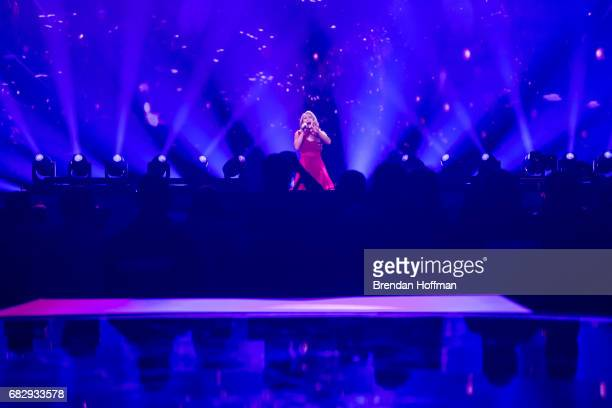 Anja the contestant from Denmark performs during a rehearsal for the second Eurovision semifinal on May 10 2017 in Kiev Ukraine Ukraine is the 62nd...