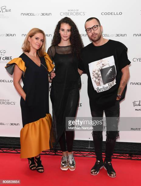 Anja Tillack Betty Taube and Marcell Von Berlin during the Marcell Von Berlin 'Genesis' collection presentation on July 3 2017 in Berlin Germany
