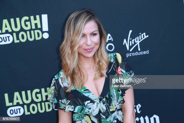 Anjelah Johnson attends the Kevin Hart and Jon Feltheimer Host Launch Of Laugh Out Loud at Private Residence on August 3 2017 in Beverly Hills...