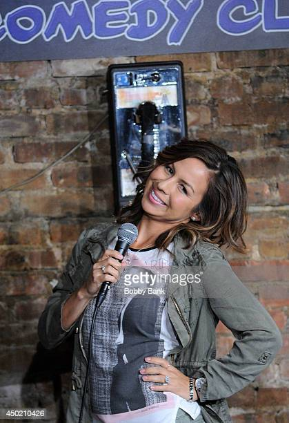 Anjelah Johnson performs at The Stress Factory Comedy Club on June 6 2014 in New Brunswick New Jersey
